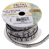 Faux Snake Leather 10x2mm (3m Spool) White